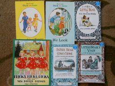 Children's 6 Books Lot-Dick and Jane-Little Bear-Flicka, Ricka, Dicka Paperbacks