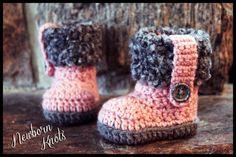 Crochet Pattern for Boys or Girls Fur Flap Baby by NewbornKnots