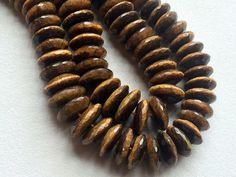 Tigers Eye Disc Beads Tigers Eye Faceted German by gemsforjewels
