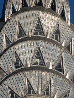 Art Decó Chrysler Building, The Queen of Art Deco, New York City, New York Arte Art Deco, Moda Art Deco, Estilo Art Deco, Beautiful Architecture, Beautiful Buildings, Art And Architecture, Architecture Details, Bauhaus Architecture, Installation Architecture