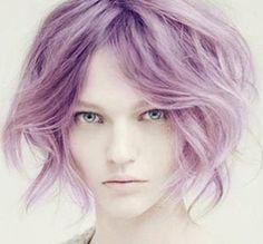 color (light purple)   I want a wavy bob.