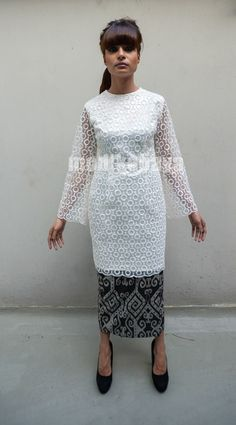 organdy lace top :: mod|kebaya