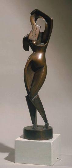 Alexander Archipenko 'Woman combing her hair', bronze Art Sculpture, Abstract Sculpture, Contemporary Sculpture, Contemporary Art, Avant Garde Artists, Georges Braque, Stone Carving, Art Object, Art Plastique