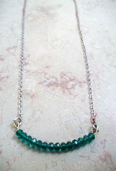 collier DIY - perles vertes émeraudes fait main - jewel - bijoux