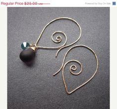 Holiday SALE 14k gold fill hammered SPIN Dangle Earrings / Interchangeable earrings