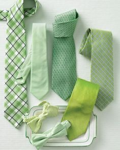Shades of Green - Ties for Grooms and Groomsmen
