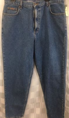 Womens Eddie Bauer 18R Jeans Loose Natural Fit Denim Tapered Ankles Stone Wash  #EddieBauer #RelaxedLoosefitTapered