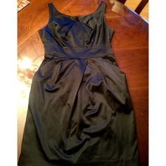 Stunning Silky Black Dress Absolutely GORGEOUS! In perfect condition, this silky dress hugs all the right places! Don't miss out  Teez Me Dresses