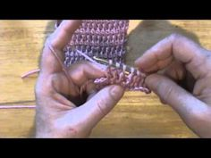Sploty tunezyjskie -Słupek raz nawijany - (tunisian double crochet) Tdc