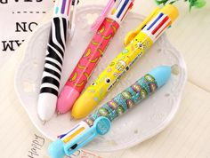 1 x Visual Monster 8 in 1 colored ballpoint pen kawaii stationery canetas material escolar office. Click visit to buy Korean Stationery, Stationery Pens, Kawaii Stationery, Pencil Writing, Writing Pens, Multi Color Pen, School Pens, Office And School Supplies, School Office