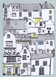 Doodle art 293508100700153870 - PaperArtsy: 2016 Scribbles and Doodles {Challenge} Source by alaintellier House Illustration, Illustrations, House Drawing, Town Drawing, Puzzle Drawing, House Sketch, Urban Sketching, Doodle Art, Home Art