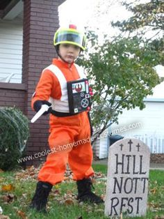 Homemade Luke Skywalker X-WIng Pilot Costume:  This costume and accessories were all homemade (except light saber)...
