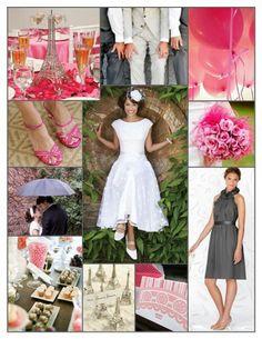 Pink and grey Parisian wedding inspiration