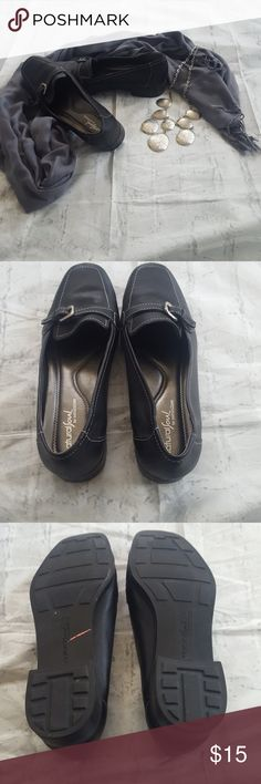 2/$25  EUC Naturalizer black flats EUC black flats with buckle trim, worn once.  The shoes are marked 81/2 W, but they fit like a regular width. Naturalizer Shoes Flats & Loafers