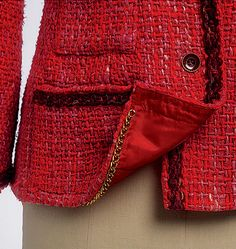 One day I'll get motivated to try making a Chanel style jacket. But not in red.