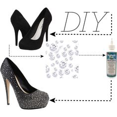 images about DIY HEELS on Pinterest | Glitter high heels, High heels ...