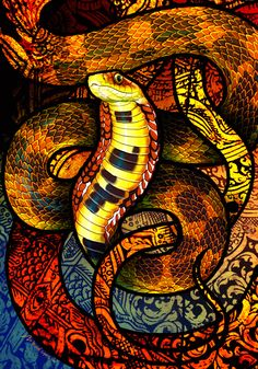 Large-Eyed Bamboo Snake by Culpeo-Fox on DeviantArt Gaboon Viper, Snake Wallpaper, All About Snakes, Spotted Cat, Film Icon, Snake Art, Mind Blown, Traditional Art, Artsy Fartsy
