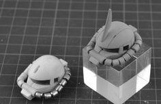 SIDE3 MG 1/100 ザクII レジンキット改造パーツ - INASK INFO (^^ゞ