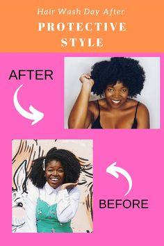 Hair Wash Day After Braids