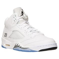<p>Inspired by Michael Jordan's continued flight status and a WWII fighter plane the Men's Nike Air Jordan Retro V is another custom Tinker Hatfield tinkered to perfection. With another scoring title under his belt and a 69 point outbreak against the Cavaliers, Jordan needed a shoe that would live up to his elevated game.</p>  <p>1990 proved to be a good year, Michael's aerial attack inspired the WWII Spitfire flames on the V's. This shoe introduced a padded tongue displaying a continuance…