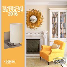 El color amarillo cobra gran importancia este año, es un tono arriesgado pero fácilmente puedes combinar como con nuestro modelo de luminaria. #Calux #Tendencia #Iluminación #Innovación #Belleza #Espacios #Diseño #interiores #Decoración  #Contemporáneo