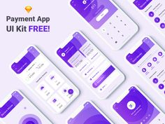 Free UI Kit - Payment App designed by Akshay Salekar 🔥. Connect with them on Dribbble; the global community for designers and creative professionals. Android App Design, App Ui Design, Mobile App Design, Web Design, Creative Design, Mobile App Ui, Ui Kit, Mopar, Adobe Xd