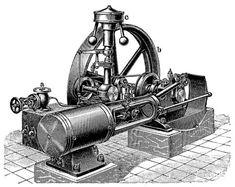 9. Liegende Einzylinder-Dampfmaschine. Steam Engine, Diesel, Random Stuff, Steampunk, Engineering, Tattoos, Pictures, Rpg, Design History