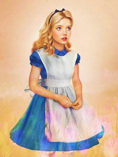 Slightly Creepy Realistic Disney Princess Art - News - alice in wonderland Realistic Disney Princess, Disney Princess Art, Prince And Princess, Disney Art, Princess Alice, Prince Eric, Punk Princess, Punk Disney, Prince Phillip