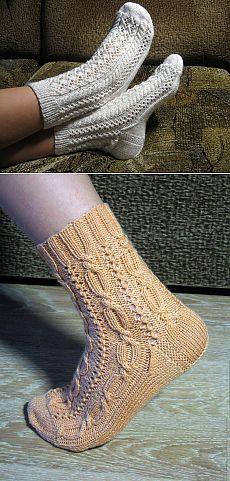 Ажурные носки + схемы от Лены-Изольды (3 вида).