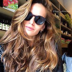 Instagram media hair_reference - Cabelão Deuso da TOPPPP @iza_goulart ❤️❤️ #goodnight #referencia #morenailuminada #inlove #hairreference #topmodel #angel