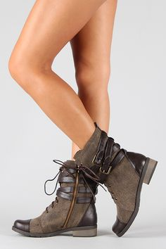 ♥♥♥ Military Mid Calf Boot