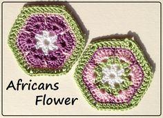 africans flower  - tutorial e schemi su www.gomitolorosso.it