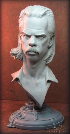 Nick Cave Bust 008 by TrevorGrove on DeviantArt Red Right Hand, Rock Album Covers, The Bad Seed, Cover Band, Nick Cave, Modern History, Best Artist, Deviantart, Statue