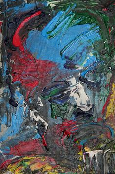 Tim Dayhuff - painting - acrylic on Internet photocopy fixed on board - 8 x 12 in - Dec 2014