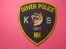 DOVER NEW HAMPSHIRE K9 POLICE PATCH