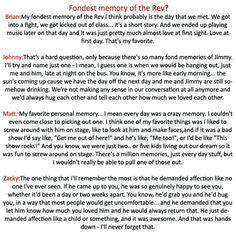 The guys fondest memory of Jimmy....I really love Zacky's