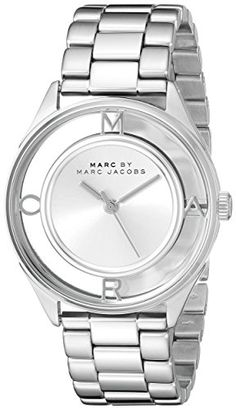 Marc by Marc Jacobs Womens MBM3412 Tether Analog Display Analog Quartz SilverTone Watch ** To view further for this item, visit the image link.