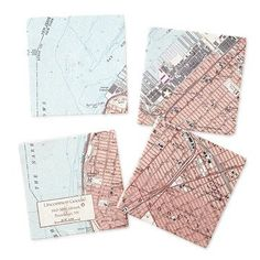 Look what I found at UncommonGoods: Custom Map Coaster Set for EUR Unique Gifts For Men, Unusual Gifts, Gifts For Dad, Gifts For Women, Creative Gifts, Map Coasters, Marble Coasters, Photo Coasters, Nautical Gifts