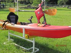 PVC Kayak Storage Rack