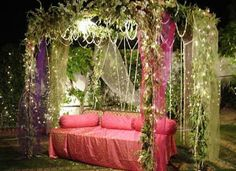 Bangladeshi Wedding Bed Decoration With Flowers : 24 Pink And Purple Hanging Wedding Decor Ideas  Weddingomania