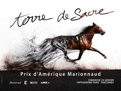 Advertising - Horse - Prix d'Amérique Marionnaud - Place du Marché  www.pegasebuzz.com/leblog