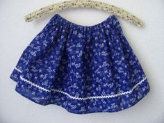 Mini kékfestő- kislány szoknya, Ruha, divat, cipő, Női ruha, Gyerekruha, Gyerek (4-10 év), Meska