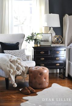 superb A gold orb like this one from HomeGoods helps add curiosity to a nightstand. (sponsored pin) Supply : Making Some Changes To Our Master Bedroom – Dear Lillie Studio by dearlillie Board… Decor, Interior, Home Bedroom, Home Decor, House Interior, Bedroom Decor, Interior Design, Home And Living, Cottage Bedroom