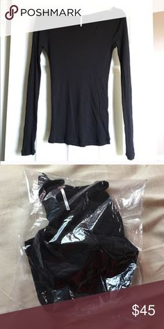 NWT Black sweater Brand new. Bag hasn't even been open yet. Free people. Size small. :) Free People Sweaters