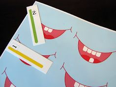 Preschool Tooth Counting Game Printable for Dental Health week, file folder game maybe