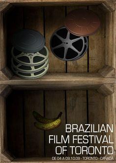 Cartaz – Brazilian Film Festival of Toronto    Mais em: http://fabiolobo.com.br/design