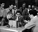 Bobby Fischer plays Tigran Petrosian, Moscow Central Chess Club, 1958.