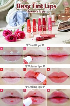 14 Must Have Korean Beauty Products - Different lip tint trends to try! Photo via Beauty Tutorials
