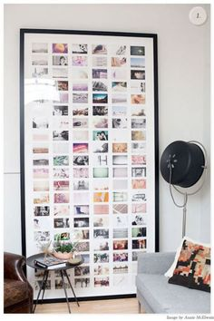 framed photos. love this!