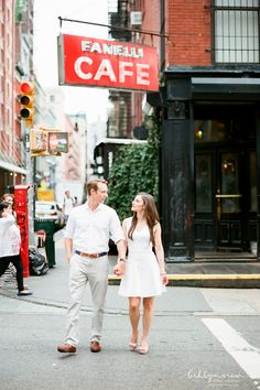 Sweet and Fun Soho Engagement Session. New York Engagement Photographer.